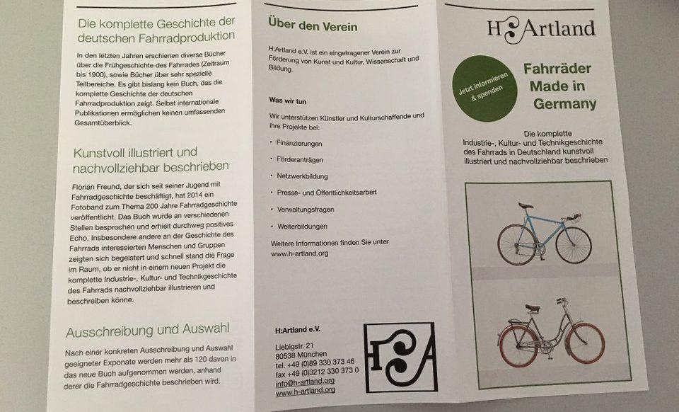 die neuen flyer für fahrräder made in Germany